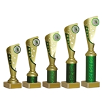 Gold and Green Any Sport Trophies