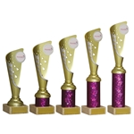 Gold and Pink Any Sport Trophies