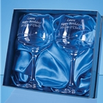 Engraved Spiral Diamante Gin Glasses - Set of 2