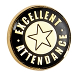 Metal Excellent Attendance Badges