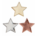 Metal Star Pin Badges