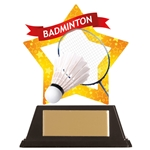 Acrylic Star Badminton Trophies