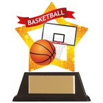 Acrylic Star Basketball Trophies