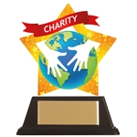 Acrylic Star Charity Trophies