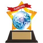 Acrylic Star Disco Dancing Trophies