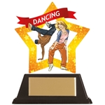 Acrylic Star Street Dance Trophies
