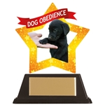 Acrylic Dog Agility and Obedience Trophies
