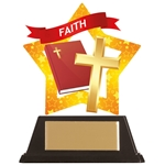 Acrylic Star Faith Religious Trophies