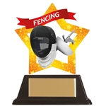 Acrylic Star Fencing Trophies