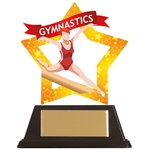 Acrylic Star Female Gymnastics Trophies