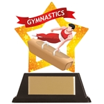 Acrylic Star Male Gymnastics Trophies