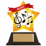 Acrylic Star Music Trophies