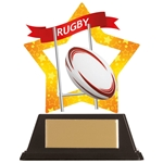 Acrylic Star Rugby Trophies