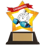 Acrylic Star Swimming Trophies