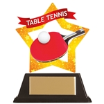 Acrylic Star Table Tennis Trophies