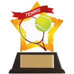 Acrylic Star Tennis Trophies