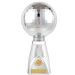 Deluxe Planet Silver Disco Ball Trophies