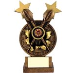 Resin Dartboard and Darts Trophies