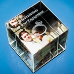 Optical Crystal Cube Photo Frame