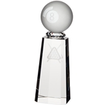 Crystal Synergy Pool 8 Ball Trophies