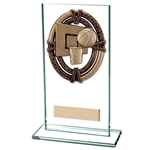 Maverick Legacy Basketball Glass Trophies