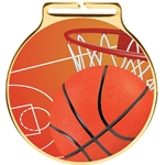 Vision Basketball Medal and Ribbon