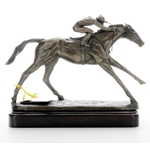 Bronze Cast Sculpture On The Flat Horse Trophies