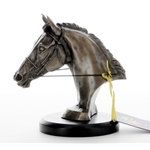 Bronze Cast Sculpture Eventers Head Horse Trophies
