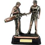 Electroplated Double Golfing Figure