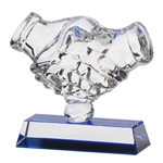 Fair Play Crystal Handshake Trophies