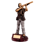 Clay Pigeon Shooting Male Figure Trophies