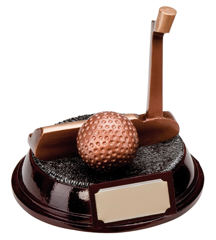 Golf Putter and Ball Trophies