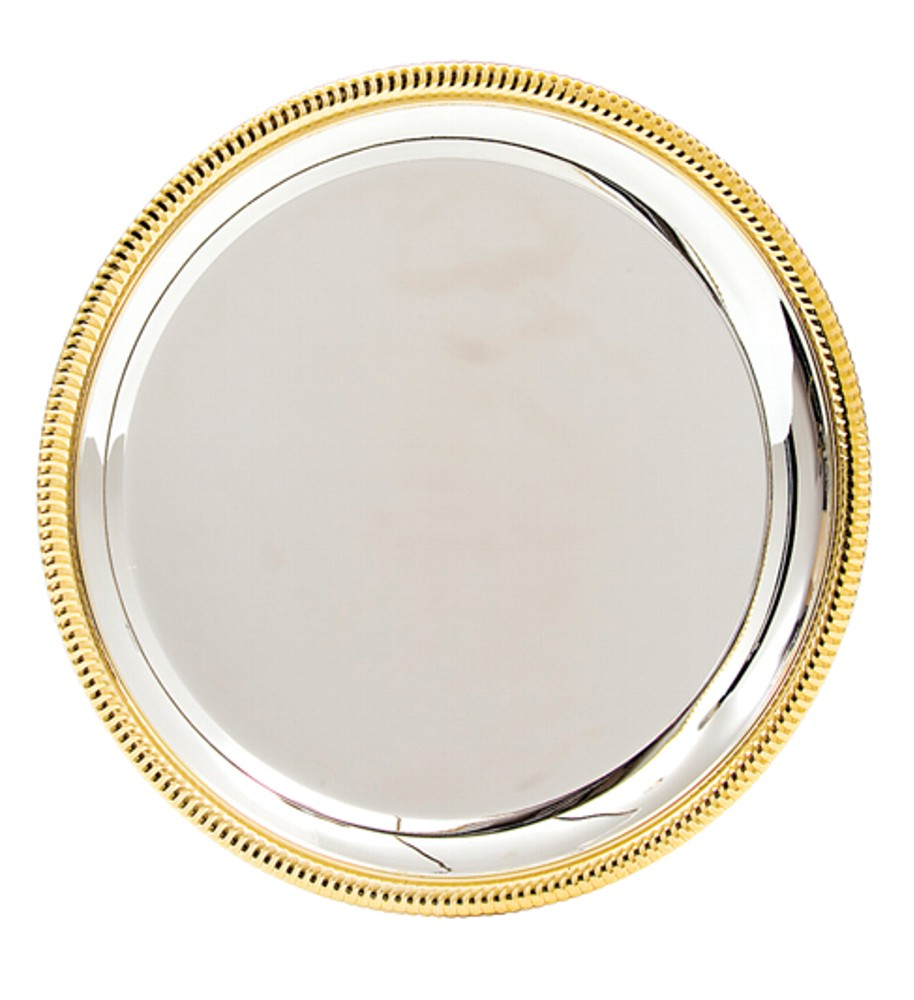 Silver & Gold Trim Salvers