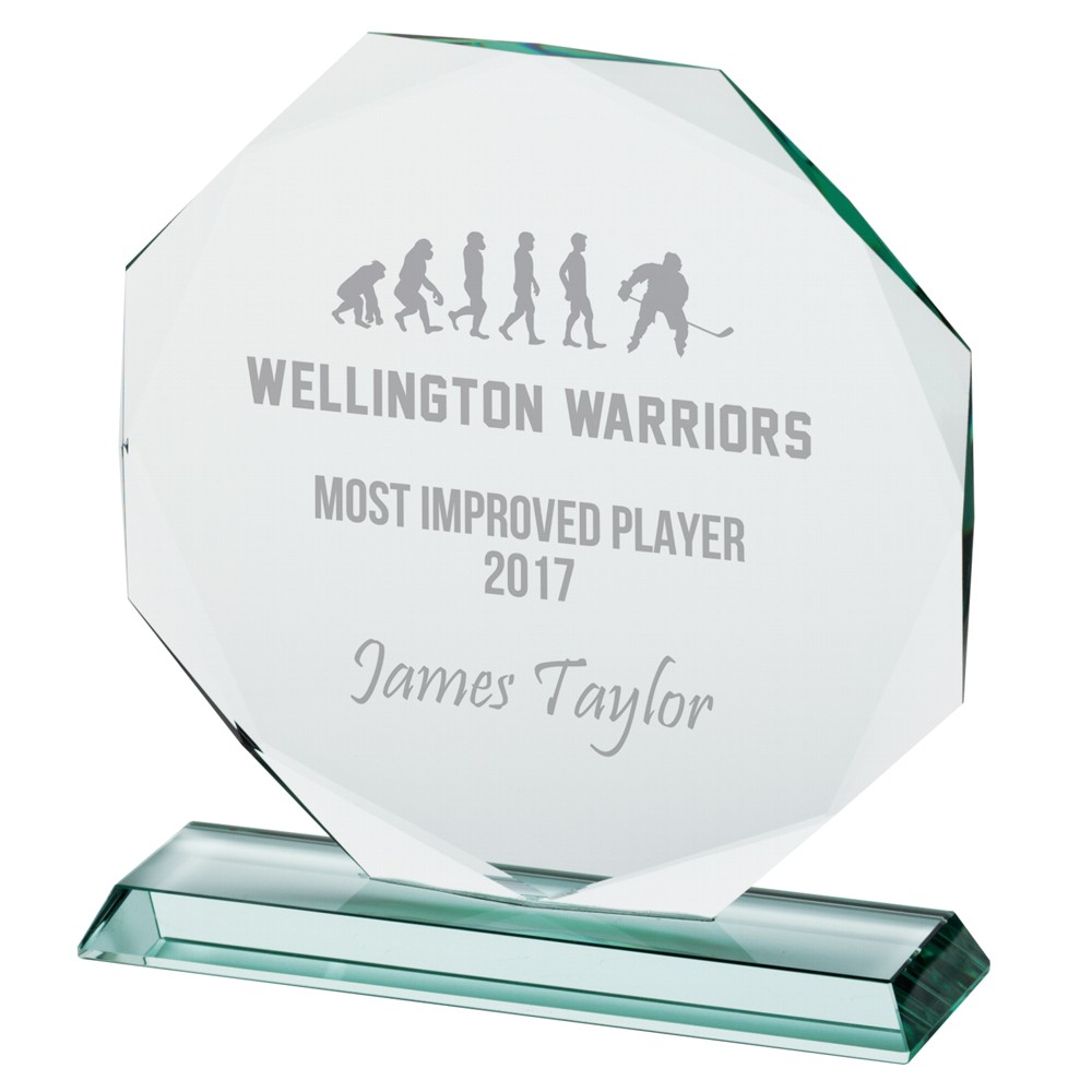 Engraved Jade Crystal Recognition Awards
