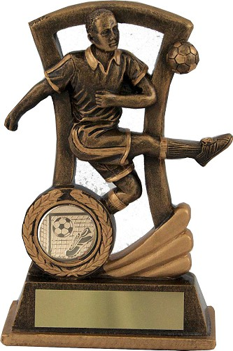 Resin Football Figure Striker Trophies