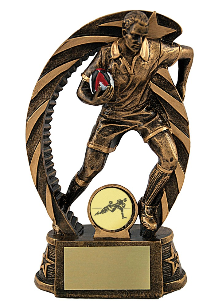 Resin Rugby Figure Trophies