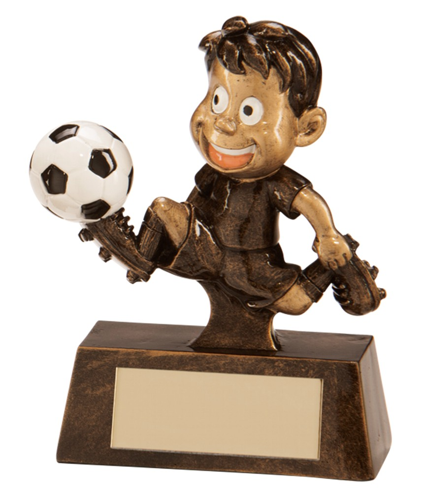 Little Champion Resin Football Player Trophies