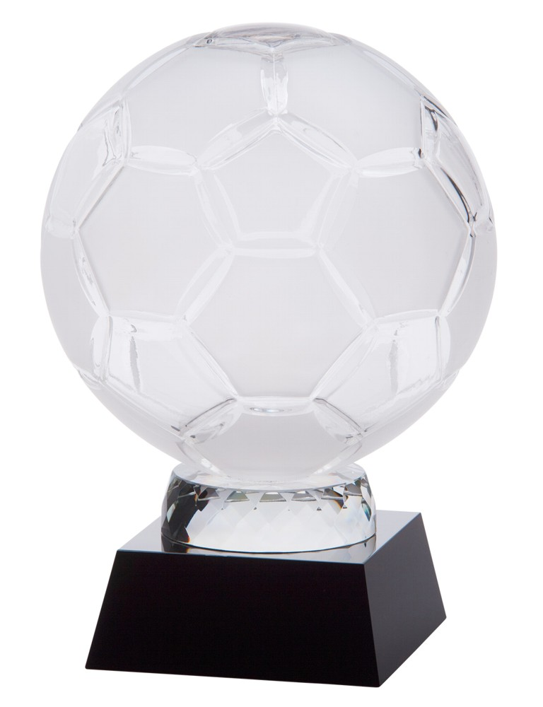 Large Empire 3D Crystal Football Ball Trophy