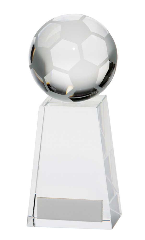 Crystal Voyager Football Ball Trophies