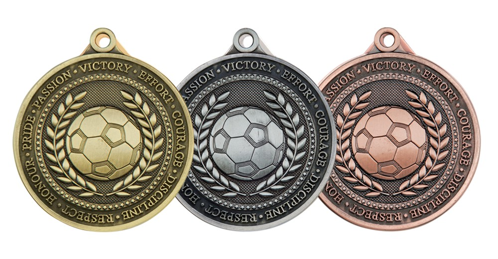 60mm Heavy Football Medals and Ribbon