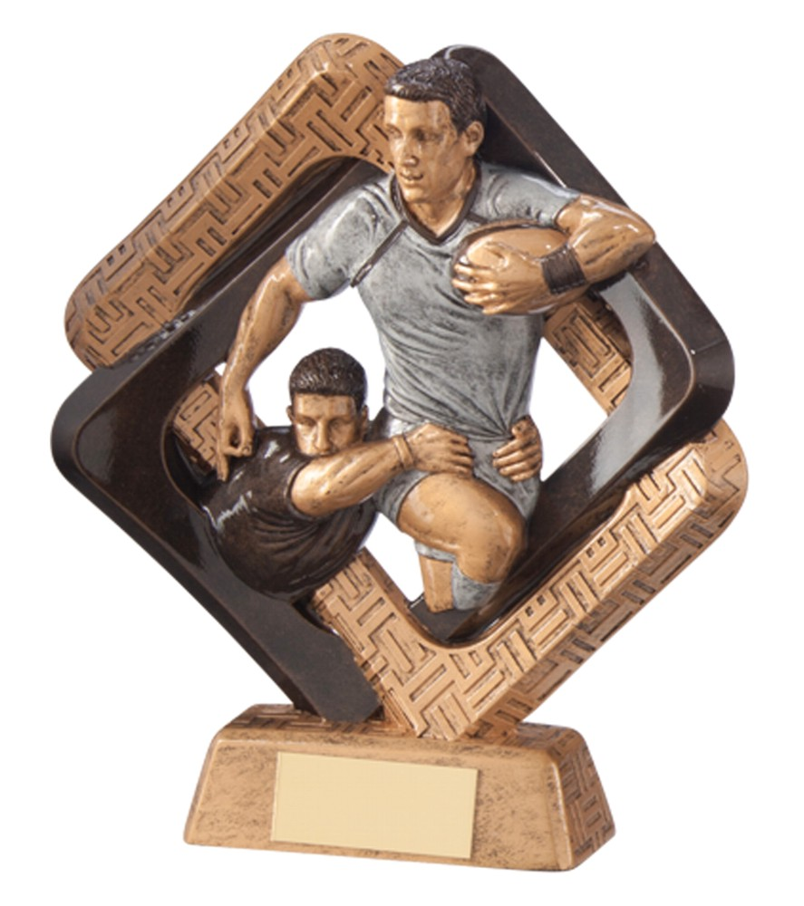 Sporting Unity Resin Rugby Ball Trophies