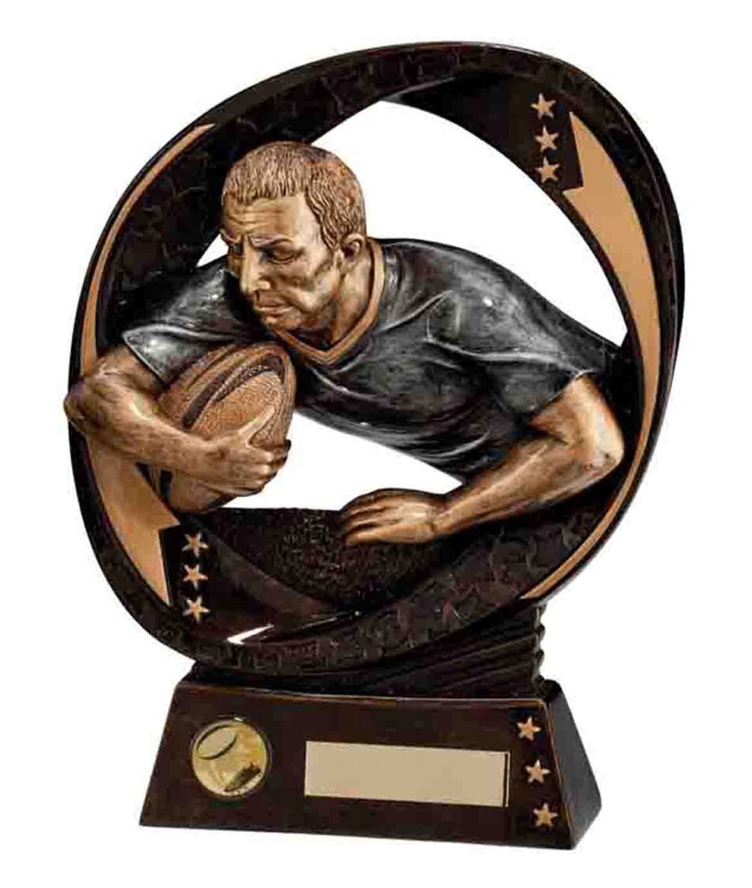 Typhoon Resin Rugby Player Trophies
