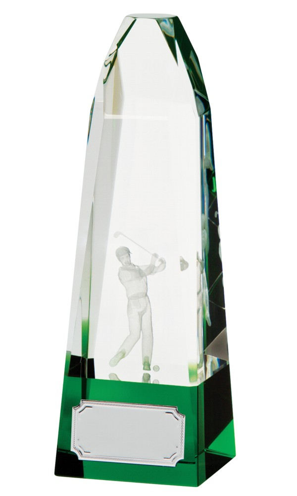 Crystal Pinnacle Golf Trophies