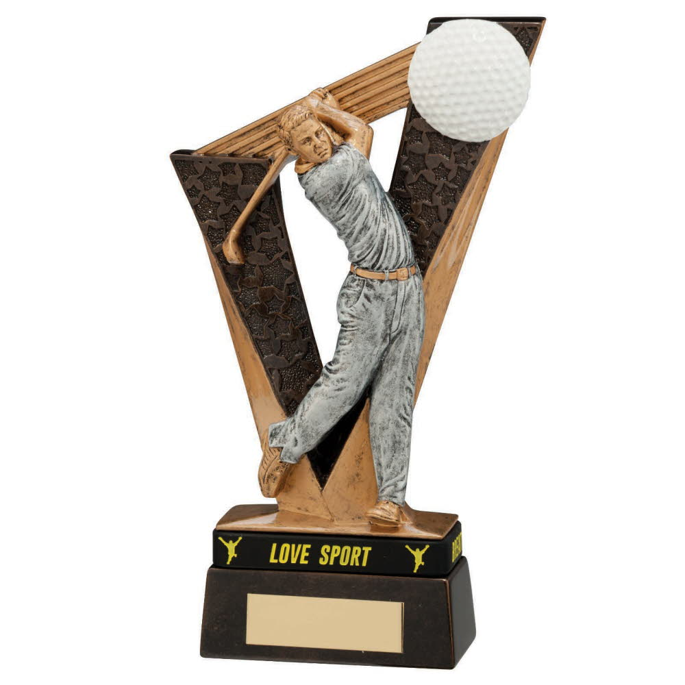 Victory Male Golf Figure Trophies