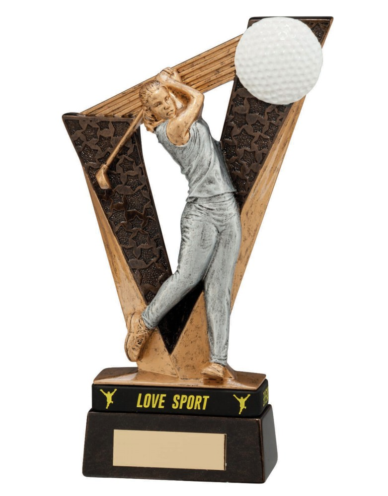 Victory Female Golf Figure Trophies