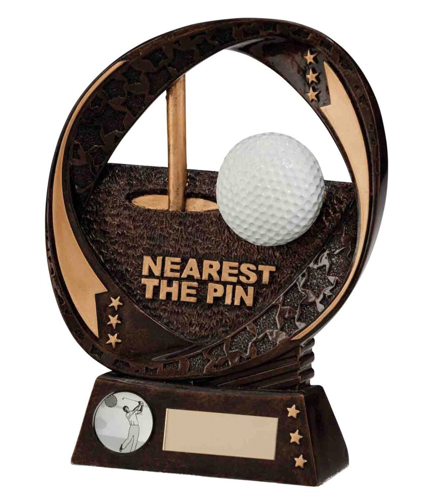 Typhoon Resin Nearest the Pin Golf Trophies