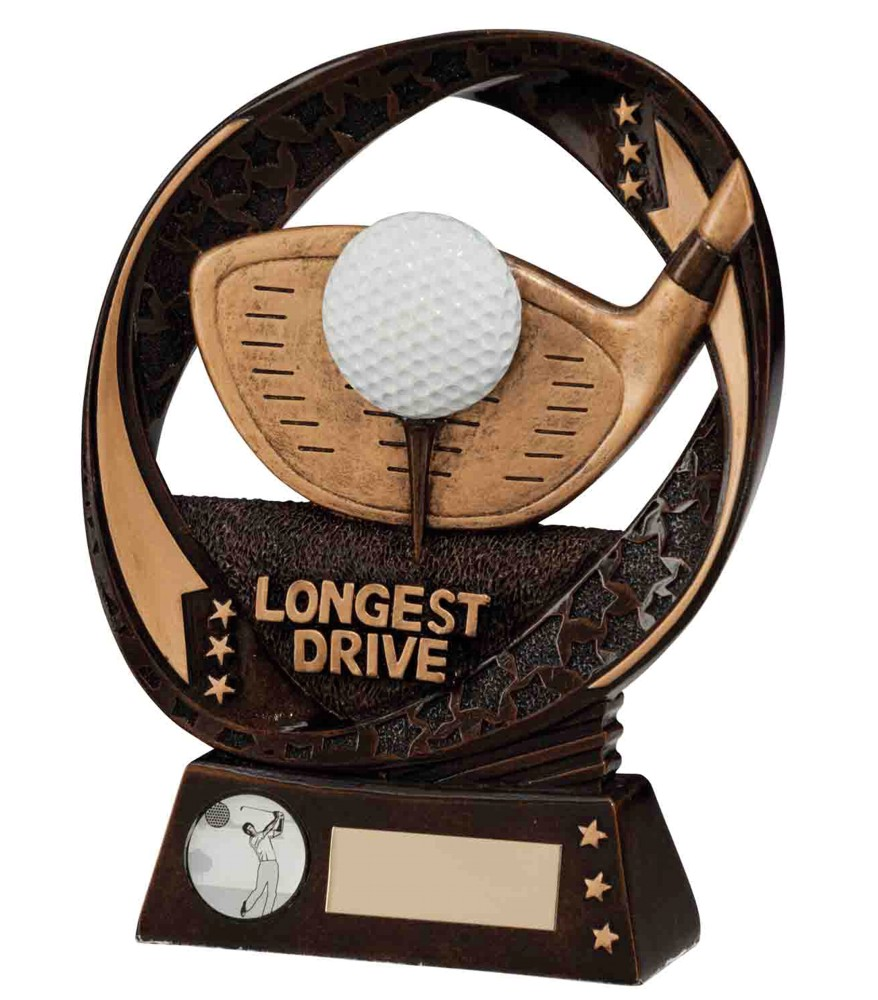 Typhoon Resin Longest Drive Golf Trophies