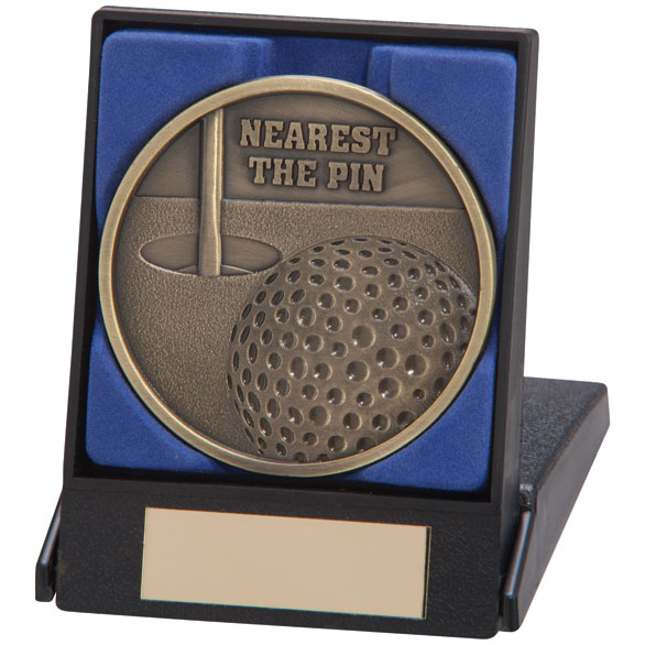 Nearest The Pin Golf Medal In A Box