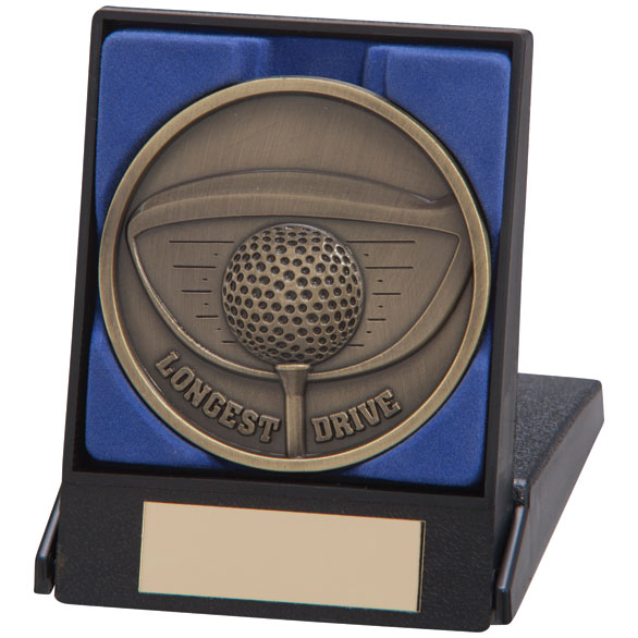 Longest Drive Golf Medal In A Box