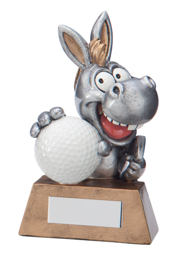 Resin 'What A Donkey!' Golf Trophies